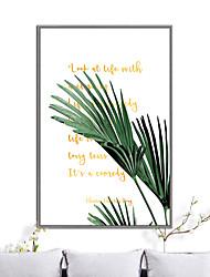 cheap -Framed Art Print Framed Canvas - Botanical Plastic Illustration Wall Art