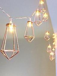 Недорогие -1 компл. Светодиодный свет шнура 10 огней из кованого железа алмаз капли воды ретро освещение ночник рыбацкая лодка свет аккумуляторная коробка огни