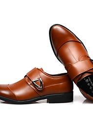 levne -Pánské Komfortní boty mikrovlákno Jaro Oxfordské Bílá / Černá / Hnědá