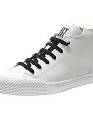 Недорогие -Муж. Комфортная обувь Наппа Leather Осень Кеды Белый