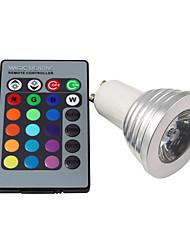 hesapli -3 W LED Küre Ampuller 250 lm E14 GU10 E26 / E27 1 LED Boncuklar Yüksek Güçlü LED Uzaktan Kumandalı RGB 1pc