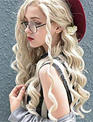 voordelige -Pruik Lace Front Synthetisch Haar Gekruld / Spiraal krul Jenner Stijl Gratis deel Kanten Voorkant Pruik Blond Blond Synthetisch haar 24 inch(es) Dames synthetisch / Gemakkelijke dressing / nieuwe