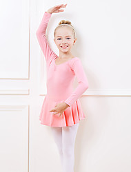 cheap -Kids' Dancewear / Ballet Dresses Girls' Training / Performance Cotton Split Joint Long Sleeve Natural Dress