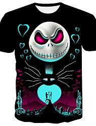 economico -T-shirt Per uomo Teschi Nero XXL
