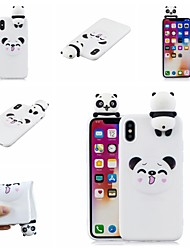 olcso -Case Kompatibilitás Apple iPhone XR / iPhone XS Max Minta Fekete tok Rajzfilm / Panda Puha TPU mert iPhone XS / iPhone XR / iPhone XS Max