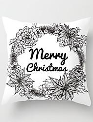economico -1 pezzi Cotone / Lino Federa, 3D Print Animali Natale Di tendenza Natale