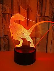 זול -USB מופעל לילה מוזר אור 3D דינוזאור אנרגיה חזותית חיסכון בעין טיפול הוביל אור שולחן מנורה עבור סלון<5v