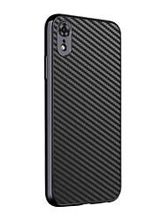 olcso -BENTOBEN Case Kompatibilitás Apple iPhone XR Ütésálló / Galvanizálás Fekete tok Egyszínű Kemény PU bőr / TPU / Szénrost mert iPhone XR