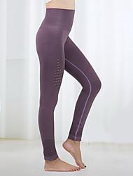 お買い得  -女性用 ヨガパンツ アーミーグリーン バイオレット バーガンディー スポーツ 純色 サイクリングタイツ レギンス ダンス ランニング フィットネス アクティブウェア 高通気性 速乾性 バットリフト おなかコントロール 伸縮性あり タイト