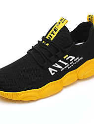 cheap -Men's Comfort Shoes Elastic Fabric Spring & Summer Sporty / Casual Athletic Shoes Running Shoes Breathable Black and White / Black / Red / Black / Yellow