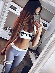 voordelige -Dames Open rug Yoga pak Zwart Grijs Sport Kleurenblok Elastaan Sportoutfits Yoga Gym training Mouwloos Sportkleding Lichtgewicht Ademend Sneldrogend Zweetafvoerend Rekbaar