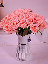 Χαμηλού Κόστους -Ψεύτικα λουλούδια 1 Κλαδί Μονό μινιμαλιστικό στυλ Μοντέρνα Υποαλλεργικά φυτά Λουλούδι για Τραπέζι