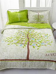 abordables -Confortable - 1 x Drap lit / 2 x Taie d'oreiller / 1 Couette Printemps & Automne / Automne / Toutes Saisons Polyester simple / 3D Print
