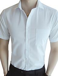 economico -Camicia Per uomo Tinta unita Blu 41