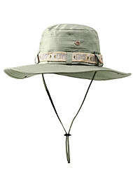 Недорогие -TCAHCC Шляпа для туризма и прогулок Рыбалка Шляпа Шляпа Boonie Широкий край 1 ед. Защита от солнечных лучей Устойчивость к УФ Дышащий Ультрафиолетовая устойчивость Сплошной цвет Нейлон Осень для