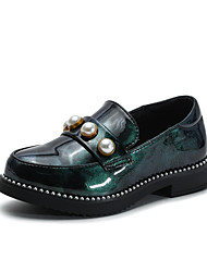 رخيصةأون -للفتيات أحذية PU الربيع / الصيف مريح المتسكعون وزلة الإضافات إلى أطفال أسود / أحمر / أخضر