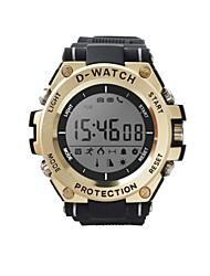 voordelige -D-watch01C Unisex Smart horloge Android iOS Bluetooth Smart Sportief Waterbestendig Lange stand-by Camera Timer Stopwatch Stappenteller Gespreksherinnering Slaaptracker