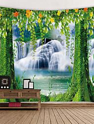 abordables -Tema Jardín / Tema Floral Decoración de la pared 100% Poliéster Modern Arte de la pared, Tapices de pared Decoración