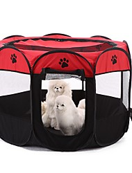 hesapli -Köpekler Yataklar Evcil Hayvanlar Astarlar Solid Zıt Renkli Ayak İzi / Paw Taşınabilir Kamp & Yürüyüş Çadır Sarı Kırmzı Haki Evcil hayvanlar için