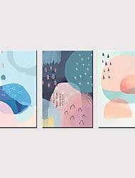 billige -Trykk Valset lerretskunst - Abstrakt Moderne Klassisk Tre Paneler
