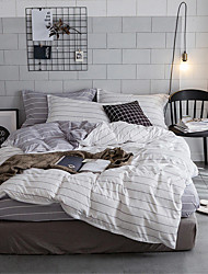 billige -Sengesett Ensfarget / Moderne Polyester Trykket 4 delerBedding Sets