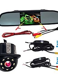Недорогие -BYNCG W4 4.3 дюймовый TFT-LCD 480TVL 480 ТВ линий 1/4 дюйма CMOS OV7950 Беспроводное 120° 4.3 дюймовый Камера заднего вида / Автомобильный реверсивный монитор / Дисплей заголовка