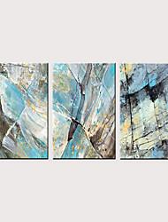 levne -Grafika Válcované plátno - Abstraktní Vintage Theme Klasické Tři panely
