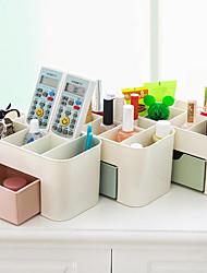 billige -lagringsorganisasjon kosmetisk makeup arrangør plast firkant avdekket / dobbeltlag
