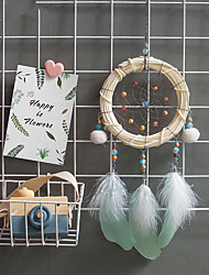 billige -bambus stripe dream catcher håndlaget anheng bursdagsgave gradering gave