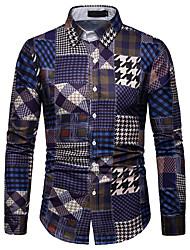 Недорогие -Муж. Рубашка Графика Красный XL