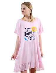 abordables -Col Arrondi Nuisette & Culottes Pyjamas Femme Couleur Pleine