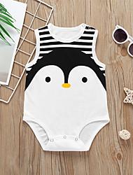 billige -Baby Gutt Aktiv / Grunnleggende Stripet / Trykt mønster Original / Stripe / Strikking Ermeløs Bomull Body Svart