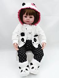 Недорогие -NPKCOLLECTION Куклы реборн Девочки 20 дюймовый Подарок Очаровательный Искусственная имплантация Коричневые глаза Детские Девочки Игрушки Подарок
