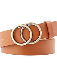 olcso -unisex munka / vintage ötvözet vékony öv - vintage / szilárd színű
