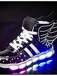 tanie -Dla chłopców / Dla dziewczynek Obuwie PU Wiosna / Jesień Świecące buty Adidasy Spacery LED na Dzieci Złoty / Czarny / Czerwony