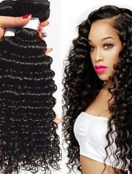 זול -3 חבילות שיער ברזיאלי גל עמוק שיער ראמי טווה שיער אדם תוספות שיער משיער אנושי 8-28 inch צבע טבעי שוזרת שיער אנושי מתנה קוספליי רך תוספות שיער אדם בגדי ריקוד נשים