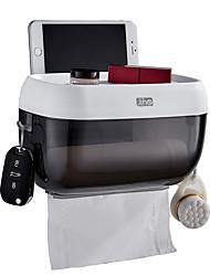 お買い得  -トイレットペーパーホルダー ノンテープ・タイプ / 創造的 / 多機能 近代の プラスチック 1個 - 浴室 壁式