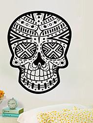 זול -מקסיקני תבנית גולגולת מדבקות קיר דקורטיביים ליל כל הקדושים אמנות טפט