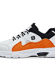 cheap -Men's Comfort Shoes Synthetics Spring & Summer Athletic Shoes Walking Shoes Orange / Black / White / White / Blue