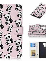 billiga -fodral Till Huawei Huawei P30 Pro / P10 Plus Plånbok / Korthållare / Lucka Fodral Panda Hårt PU läder för Huawei P30 / Huawei P30 Pro / P10 Plus