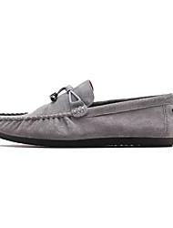 tanie -Męskie Mokasyny PU Wiosna W stylu brytyjskim Mokasyny i buty wsuwane Oddychający Szary / Czerwony / Khaki / Frędzel