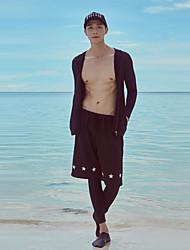 halpa -JIAAO Miesten Nopea kuivuminen Pitkähihainen Etuvetoketju 3-osainen - Uinti Sukellus Vesiurheilu Patchwork Syksy Kevät Kesä / Erittäin elastinen