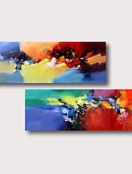 abordables -Peinture à l'huile Hang-peint Peint à la main - Abstrait Contemporain Moderne Inclure cadre intérieur