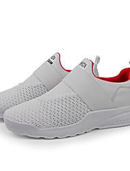 abordables -Homme Chaussures de confort Tissage Volant Printemps Simple Chaussures d'Athlétisme Course à Pied Respirable Blanc / Noir / Rouge