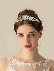 お買い得  -合金 ティアラ / ヘッドドレス とともに メタル 1枚 結婚式 / パーティー/フォーマル かぶと