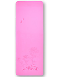 Недорогие -Коврик для йоги Ultra Slim, Эластичный, Липкий, Складной TPE Для Розовый