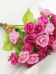 preiswerte -Künstliche Blumen 1 Ast Klassisch Moderne zeitgenössische Pastoralen Stil Rosen Tisch-Blumen