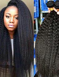 olcso -4 csomópont Brazil haj Göndör egyenes 100% Remy hajszövési csomó Az emberi haj sző Bundle Hair Emberi haj tincsek 8-28 hüvelyk Természetes szín Emberi haj sző Újszülött Puha Legjobb minőség Human