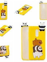 Недорогие -Кейс для Назначение Xiaomi Xiaomi Redmi Note 5 Pro / Xiaomi Redmi Note 6 / Xiaomi Pocophone F1 С узором Кейс на заднюю панель Животное / Мультипликация Мягкий ТПУ / Xiaomi Redmi Note 4X