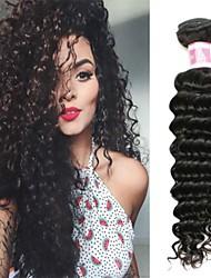 Недорогие -4 Связки Бразильские волосы Крупные кудри 100% Remy Hair Weave Bundles Человека ткет Волосы Пучок волос Накладки из натуральных волос 8-28 дюймовый Естественный цвет Ткет человеческих волос
